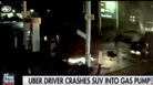 Fiery Explosion Caused By Uber Driver Crashing Into Gas Pump