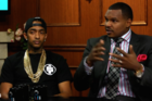 "Nipsey Hussle Discusses NFL ""N-Word"" Ban With Larry King"