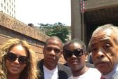 """Beyonce & Jay Z Attend """"Justice For Trayvon"""" Rally In New York"""