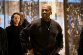 Kanye West Steps Out In New Adidas Sneaker