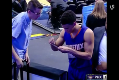 Suns' Devin Booker Gets Ejected, Signs Autograph On His Way Off The Court