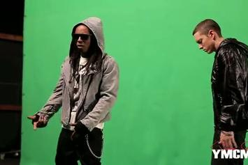 "Eminem Feat. Lil Wayne ""On The Set of ""No Love"" Video Shoot"" Video"