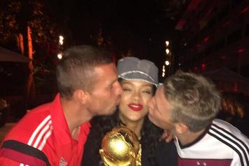 Rihanna Parties With 2014 FIFA World Cup Winners