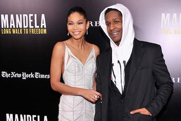A$AP Rocky & Girlfriend Chanel Iman Pose For Vogue Magazine