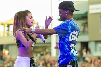 Big Sean & Ariana Grande Photographed Kissing, Holding Hands