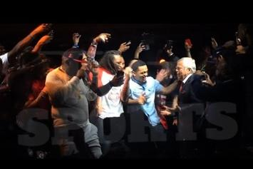 "New England Patriots Owner Joins Rick Ross Onstage For ""Ima Boss"""