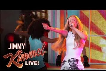 "Iggy Azalea Performs ""Work"" Live In Jimmy Kimmel"