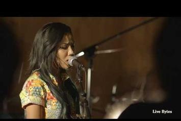 "Jhene Aiko Performs ""3:16 AM"" On Live Bytes"