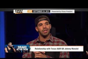 Drake Appears On ESPN's First Take