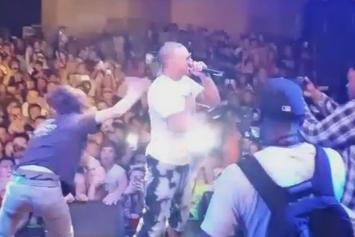 Riff Raff's Bodyguard Tackles A Fan On Stage