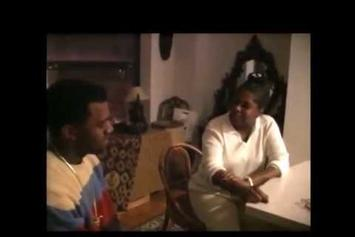 "Kanye West Sings ""Hey Mama"" To His Mother"