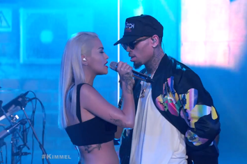 "Rita Ora & Chris Brown Perform ""Body On Me"" On Jimmy Kimmel"