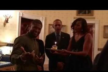 "Obama Sings ""Happy Birthday"" To Usher"