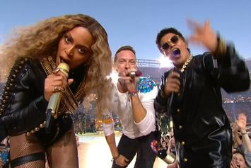 Beyonce, Bruno Mars and Coldplay Perform At Super Bowl 50 Halftime Show