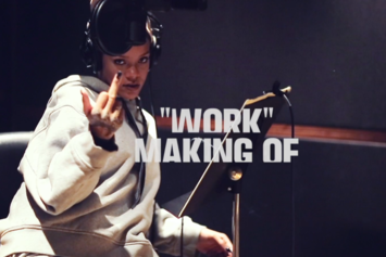 "Watch A Behind-The-Scenes Clip Of Rihanna Recording ""Work"""