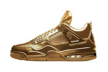 An All Gold Air Jordan 4 Has Appeared On Nike's SNKRS App