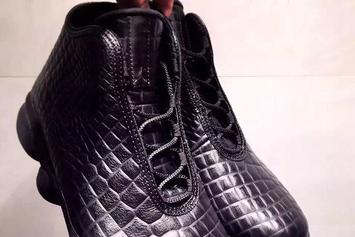 The Air Jordan Horizon Gets A Murdered Out Crocodile Look