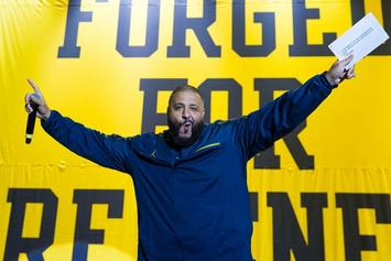 DJ Khaled Helps University Of Michigan Debut New Air Jordan Sneaker Collection