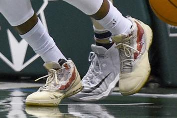 "Greg Monroe Debuts ""Veteran''s Day"" Air Jordan 16 PE"