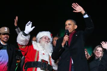 Chance The Rapper Performs At White House National Christmas Tree Lighting