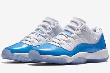 "Nike Unveils First Photos Of Air Jordan 11 Low ""Columbia"""