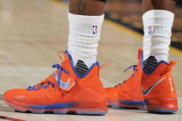 "LeBron James Debuted A New ""Hardwood Classics"" Nike LeBron 14 Last Night"