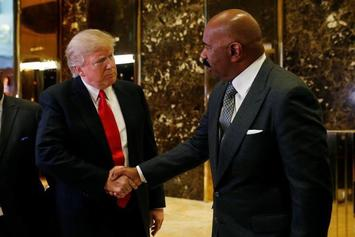 Steve Harvey Met With Donald Trump Today And People Were Not Pleased