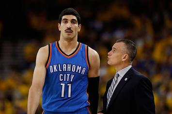 Watch Enes Kanter Fracture His Forearm By Punching A Chair