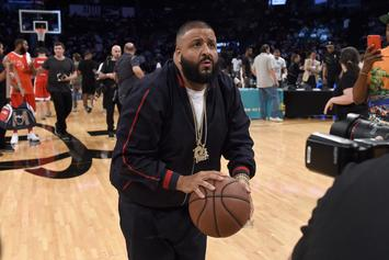 DJ Khaled Tries To Look Decent At Basketball During Antonio Brown Celebrity Game
