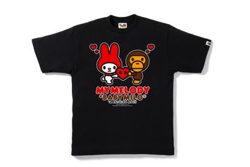 BAPE Creates Hello Kitty And My Melody Designs For Valentine's Day Collection
