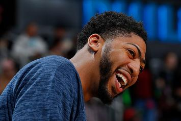 "Anthony Davis Trolls Buddy Hield For Hitting DeMarcus Cousins: ""Still Trying To Grab Nuts!!"""