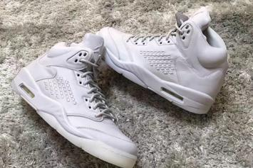 "Photos Surface Of An All-White ""Take Flight"" Air Jordan 5"