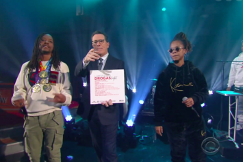 """Watch Lupe Fiasco & Gizzle Perform """"Jump"""" On """"The Late Show With Stephen Colbert"""""""