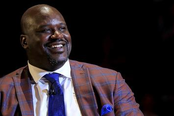 First Look At Shaq's Lakers Statue Outside Of Staples Center