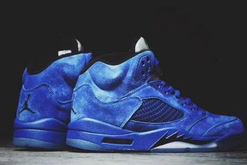 """""""Blue Suede"""" Air Jordan 5s To Release This Summer"""