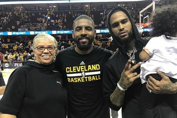 Kyrie Irving Gave Dave East These Game-Worn Shoes After Win Over Toronto