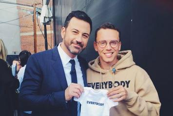 "Logic Debuts ""Black Spiderman"" on ""Jimmy Kimmel Live"""
