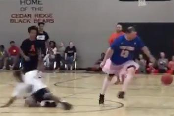 He Need Some Milk! Student Gets Crossed Up By His Teacher Wearing A Tutu
