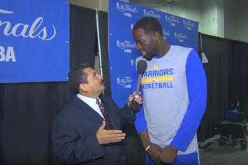 """Watch """"Guillermo vs. LeBron"""" From NBA Finals Media Day"""
