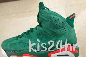 """Gatorade"" Air Jordan 6 First Teaser Images Revealed"