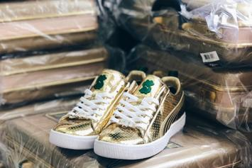 "WWE x Puma Unveil $500 ""Money In The Bank"" Sneakers"