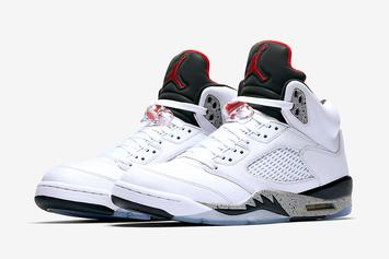 """""""White Cement"""" Air Jordan 5 Releasing In Sizes For The Whole Fam"""