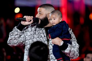 DJ Khaled Brings His Son Asahd Out On Stage At Billboard Hot 100 Festival
