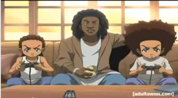 "Weezy's character on ""The Boondocks."""