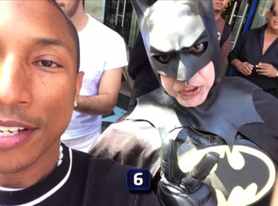 Pharrell's Batman selfie