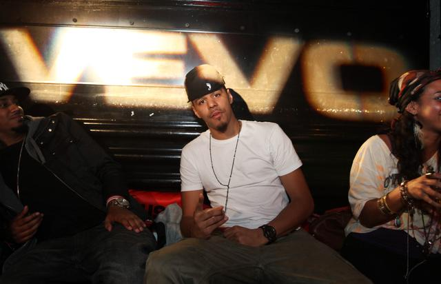 J. Cole at  a VEVO party in 2010
