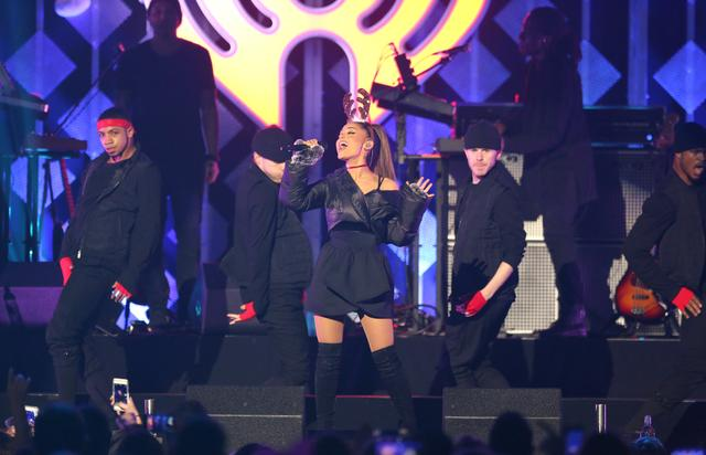 Ariana Grande performing during Power 96.1's Jingle Ball show.