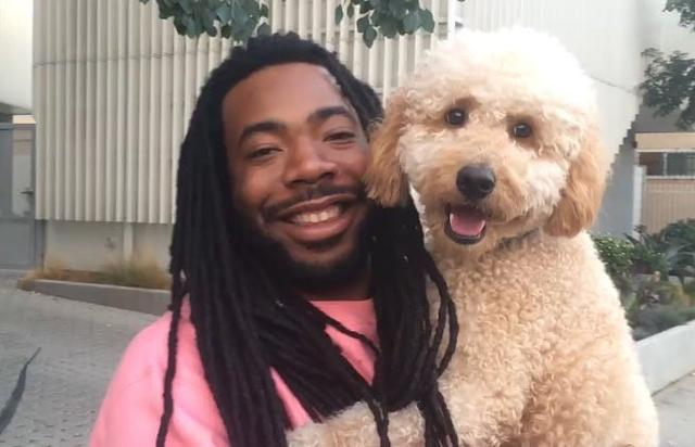 D.R.A.M. and his puppy