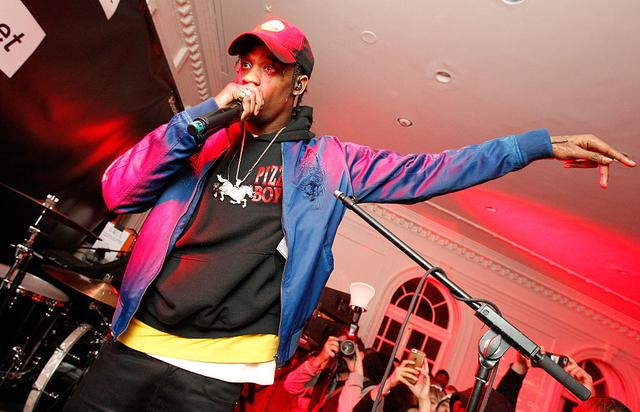 Travis Scott performs onstage at the after party celebrating DIESEL's Madison Avenue flagship on February 13, 2016 in New York City.