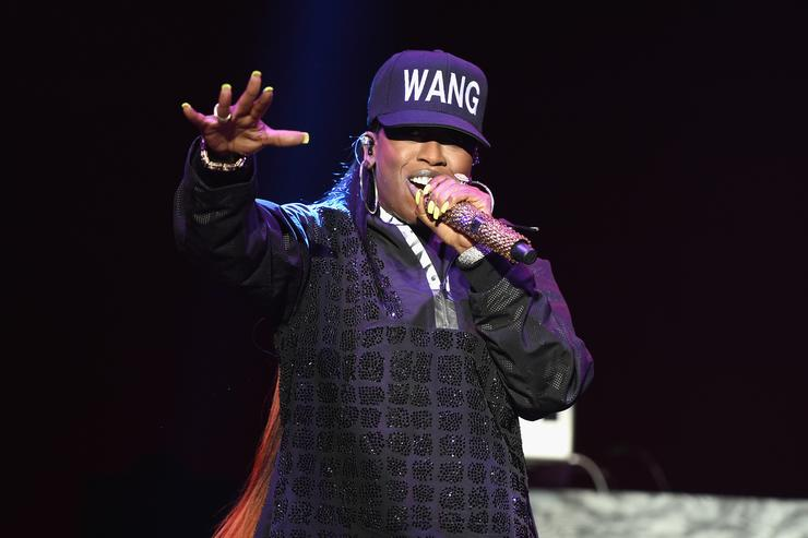 Missy Elliott at the Alexendar Wang x H&M Launch